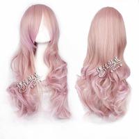 wig harajuku Japanese gradients wig 75 cm curl air volume high temperature wire