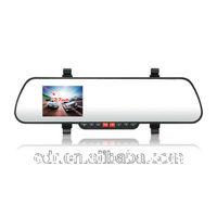 Free Shipping  rear view mirror car dvr camera registrator K5-A + Night Vision 2 F8 LEDs+ HDMI output+G sensor+motion detection