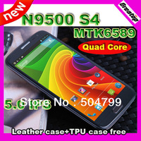 "Quad Core  phone Star N9500 MTK6589 Android 4.2 5.0"" IPS screen 1GB RAM +Free leather case & TPU case  SG freeshipping"