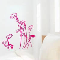 (Various Colors) Lily Flower Decor Mural Art Wall Sticker Decal WY1154