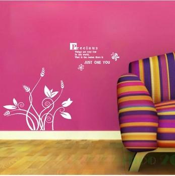 Various Color Grass  Butterfly Decor Mural Art Wall Sticker Decal WY1163