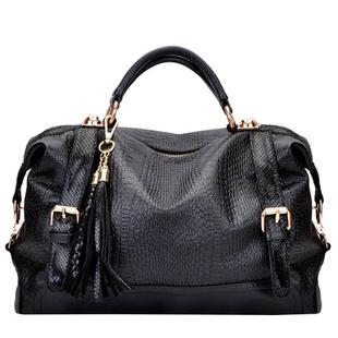 2013 Spring new handbag vintage Korean version snakeskin & tassels Mobile Messenger bag FREE SHIPPING