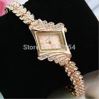 2014 Women Dress Watches Brand King Girl woman Rhinestone Watch Vintage Montre Luxury Wristwatches Quartz watch Fashion Smart