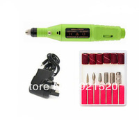 Professional Nail Art Drill Electric File Acrylics Salon Equipment Fast Green