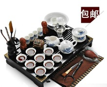 Bone china tea set set ceramic tea set sculpture wood tea tray tea set