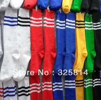 Free shipping striped cotton high quanlity soccer socks stockings,football cheap stockings,plain stockings,students sports sock
