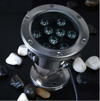 9W led underwater spotlight,Buried lights Landscape ,fountain lawn light,outdoor light,pool,pond12V,24V,85-265V,IP68