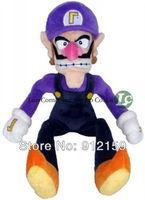 "Waluigi 1piece  11"" 27cm Hot Selling Super Mario Bros Brothers Waluigi Plush Doll Soft Toy Movie Figures"