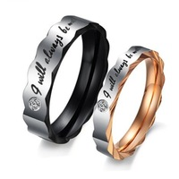 Trendy Lovers' Rings Romantic Wedding Engagement Ring For Men And Women Anel De Noivado Anelli Di Fidanzamento Gold Ring O