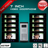 new arrival access control system for multi-apartment,thin-panel, touch button,night vision(VDP312+CAM211B-10)