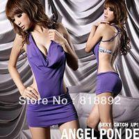 Sexy sleepwear tight dress shape your slim body knit dress js075
