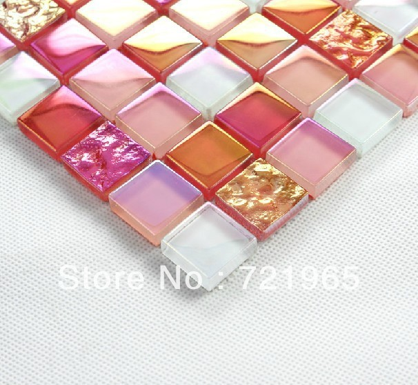 Decor mesh glass mosaic stainless steel sheet SSMT020 glass mosaic kitchen backsplash stainless steel bathroom wall glass mosaic(China (Mainland))