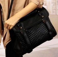Free shipping 2013 all-match knitted double buckle bag portable women's handbag cross-body vintage bag