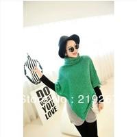 Ja  for rac e multicolour turtleneck poncho sweater three-color  TW2294