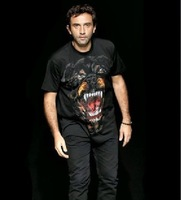 fashion men rottweiler style short sleeve t-shirt shirts tees print short sleeve t-shirt tops cotton t-shirt tops