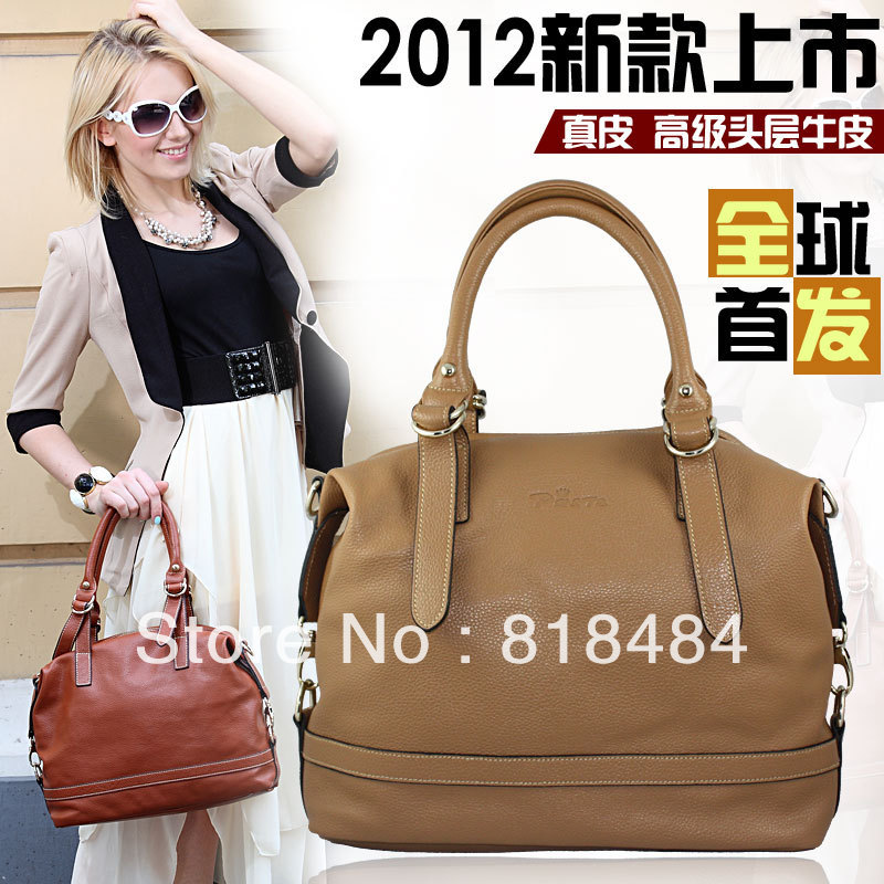 2013 newest One shoulder cross-body women's cowhide genuine leather handbag factory direct sale foreign trade goods to France(China (Mainland))