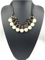 2013 new arrive fashion Pearl Shine gem Korean ribbon choker Handmade False collar short  necklace for women free shipping