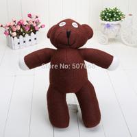 2pcs/Lot 13'' 35cm Free Shipping Mr Bean Teddy Bear Animal Stuffed Plush Toy Brown Figure Doll Child Xmas Gift Wholesale Retail