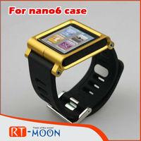 For ipod Nano 6 Aluminum Watch Kits Band Wrist Strap Tiktok  Multi-Touch mp3 Case, for iPod Nano 6 Case Cover free shipping