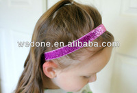 5/8 inch Glitter Elastic Headbands Perfect for Newborn Baby Adult 24pcs/lot 6 multi colors free shipping