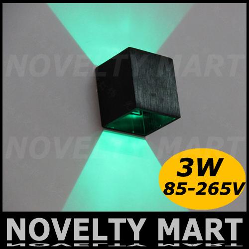 up down wall lamp 85-265V 3W aluminum wall mount led indoor wall light alise Bar KTV TV backdrop light(China (Mainland))