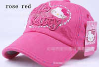 2013 whole-sale  Hot sell casual Cowboys cap suitable for children Hello Kitty children cap 10pecs/lot  mixed color FREE SHIPPNG