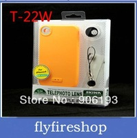 50pcs/lot 2 times zoom lens for iphone 4 T22 Increase lens Free Shipping
