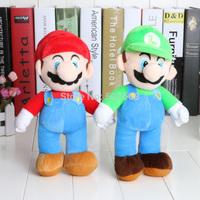 "Free Shipping Retail 1PCS High Quality Super Mario Soft Plush MARIO LUIGI 9"" MARIO BROS PLUSH DOLL"
