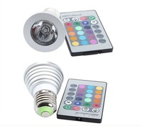 Hot Sale 12X Energy Saving 5W e27 RGB LED Bulb Lamp light Color changing IR Remote