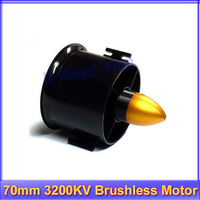 70mm Duct Fan + 3200KV Brushless Motor for lipo RC Jet+Free shipping