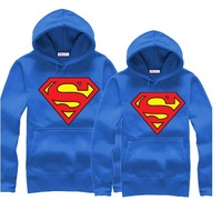 Thick Men's Jackets,,Couple Fleece Superman Hoodeies Winter Fashion 1pcs Dropshipping