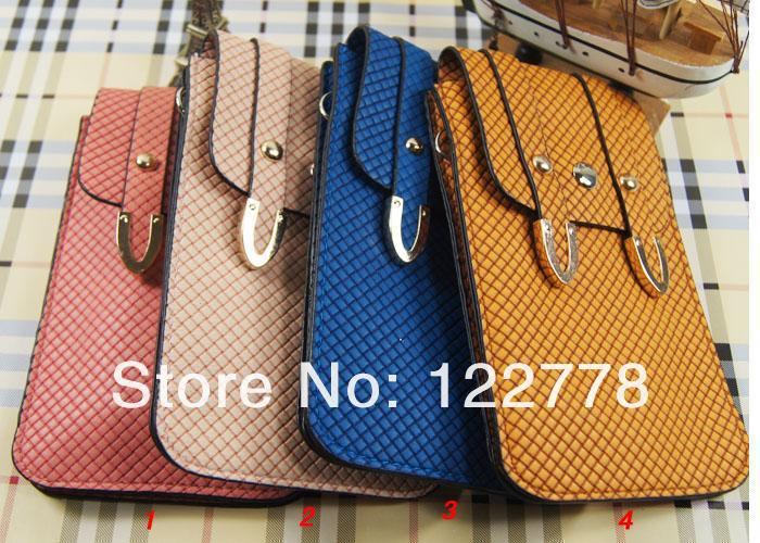 2013 New Arrival Feature Leather Bag for iPhone 5G 4G / Samsung S3 S4(China (Mainland))