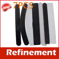 7PCS Pro 2 Way Sanding Nail File Buffing Sandpaper Slim