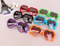 Wholesale Lovely Heart Shaped kids sun glasses colorful Fashion sun Glasses for Kids  20pcs/lot