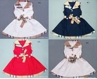 2013 new arrive kids Retail plaid fashion dress girls summer dress sleeveless tennis dress fit 1-5yrs free shipping
