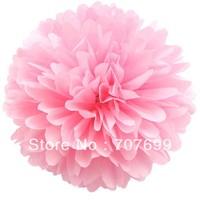 "Free Shipping 20pcs Tissue Pom Pom  14"" (35CM) Pom Pom Tissue Wedding Party Decor Craft MIX COLORS U PICK"