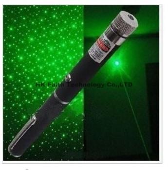 2 in 1 50mw green laser pointer pen with star head / laser kaleidoscope light