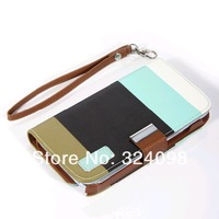 DHL Free Shipping 5 Color Choose Hybrid Leather Wallet Flip Pouch Stand Case Covers  Accessories For Samsung Note 2 N7100