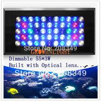 Dimmable led aquarium light 120W built 55x3W=165W,moonlight design,Bridgelux Rayal Blue Led),Aquarium Lamp for all type water