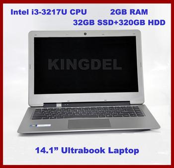 "2014 Super Power 14.1"" Laptop, Notebook Computer with Intel i3-3217U Dual Core 1.8Ghz, 2GB RAM, 32GB SSD+320GB HDD, Webcam, HDMI"