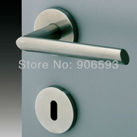 6pairs lot free shipping Modern stainless steel oval classic door handle/handle/lever door handle/AISI 304