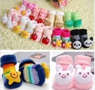 Wholesale Retail CUTE baby Infants 3D shoes animal socks Unisex Cartoon Newborn Baby antislip Socks toddler Slipper Boots shoes(China (Mainland))