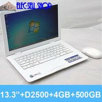 13''  mini laptop computer  L70 D2500 dual core 1.86GHZ LED 4GB 500GB Notebook PC