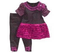 aliexpress sale Baby sets Girls clothing sets fashion summer 2pcs suits set suit dot  short-sleeve t shirts +pant  Freeshipping