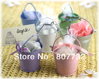 Wedding Candy Chocolate Bucket , Party Candy Pail, Metal With Nice Surface Finish, 5.5*6*4cm, 25g/pc, 9colors