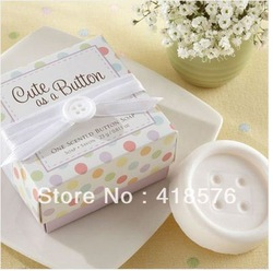 free shipping 10pcs/lot cheap sale 2013 cool novelty items personality wedding favors mini Button model soap Gift box packaging(China (Mainland))