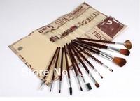 Hot !12 pcs pro Goat hair makeup brushes,makeup tools/freeshipping