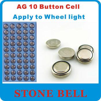 100x AG10 389 LR54 SR54 SR1130W 189 SB-BU L1130 Watch Clock Wheel light Cell Button Batteries Alkaline  toys wholesale LOT