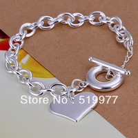 JH285 lowest price Wholesale! 925 sterling silver bracelet 925 silver jewelry charm bracelets & bangles Multi-Hearts TO bracelet