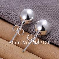 JE073  Lowest price wholesale 925 solid Silver earring 2013  charm Jewelry earring  women's  fashion jewelry, 8M Bean Earrings